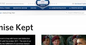 Λευκός Οίκος πόλεμος στο Ιράκ