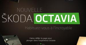 Landing Page Skoda Octavia